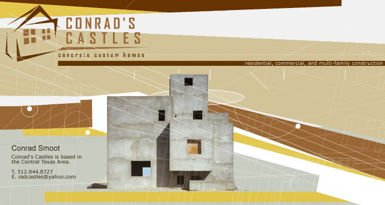Conrad 39 s castles why concrete custom homes texas for Concrete house texas
